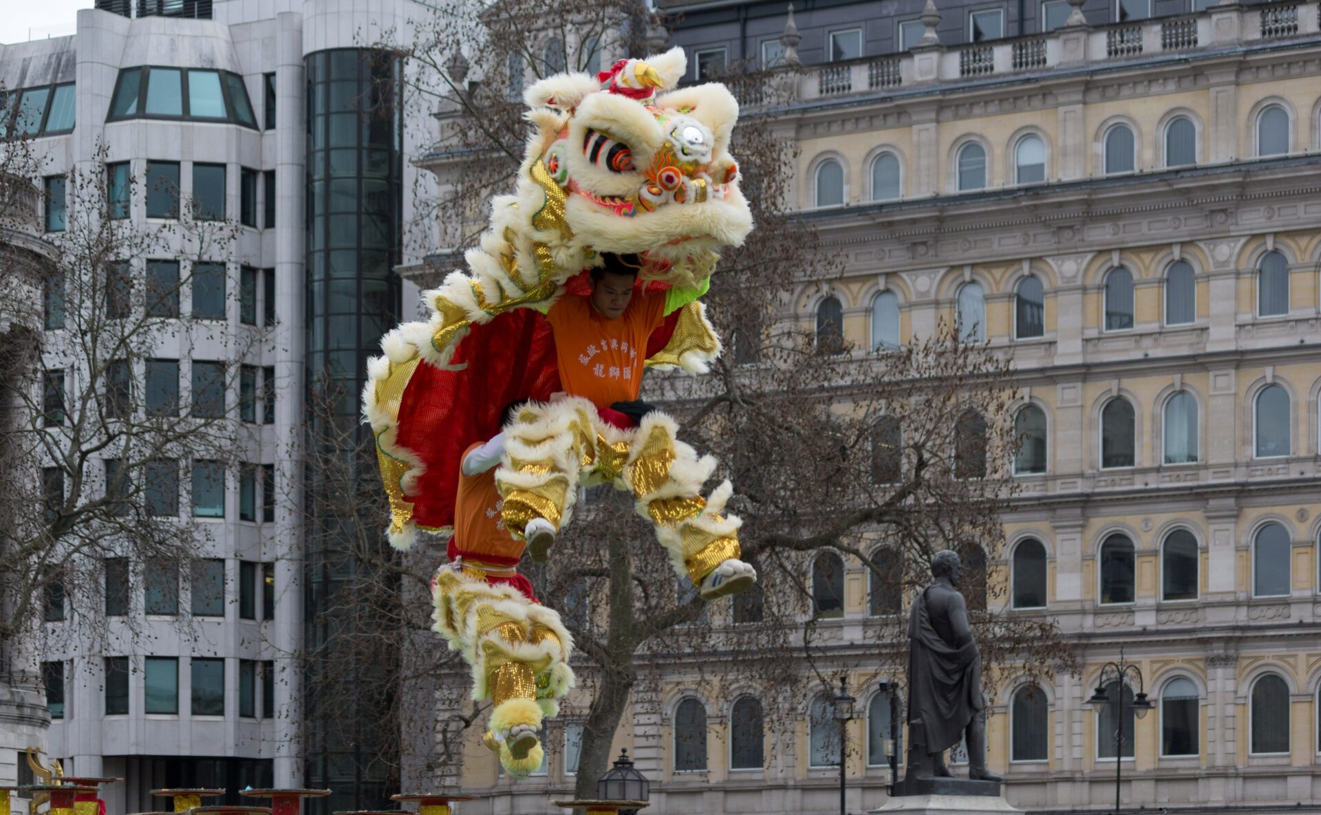 Lion dance at the 2015 London Chinese New Year celebrations